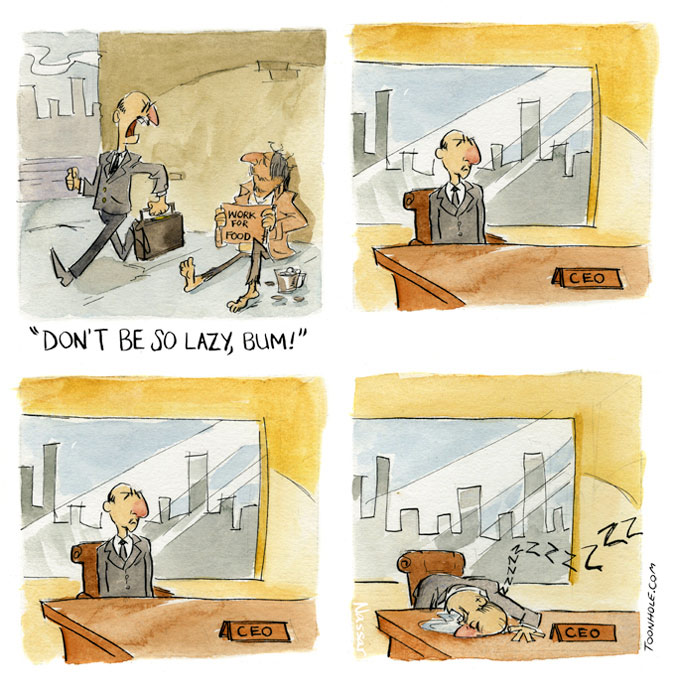 Lazy CEO
